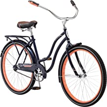 Schwinn Baywood Cruiser Bike Line, Featuring Steel Step-Through Frame and Single-Speed Drivetrain with Full Wrap Fenders, 24-26-Inch Wheels, Multiple Colors Available