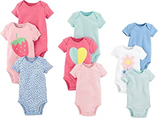 Baby Girls' 9-Pack Grow with Me Bodysuit Set