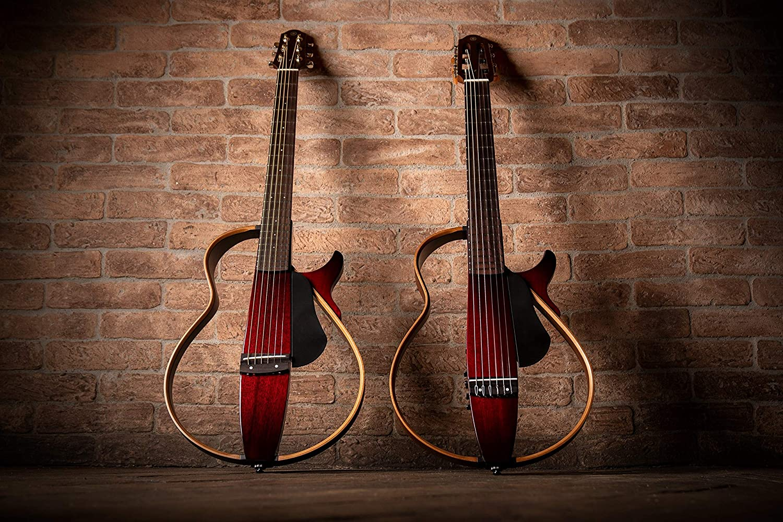 Yamaha SLG200S TBS Steel String Silent Guitar with Hard Gig Bag, Tobacco Sunburst