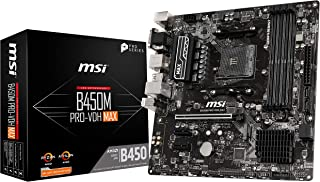 MSI ProSeries AMD Ryzen 1ª y 2ND Gen AM4 M.2 USB 3 DDR4 D-Sub DVI HDMI micro-ATX placa base