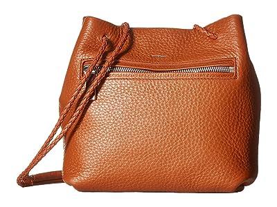 Shinola Detroit Nappa Mini Drawstring (Bourbon) Drawstring Handbags