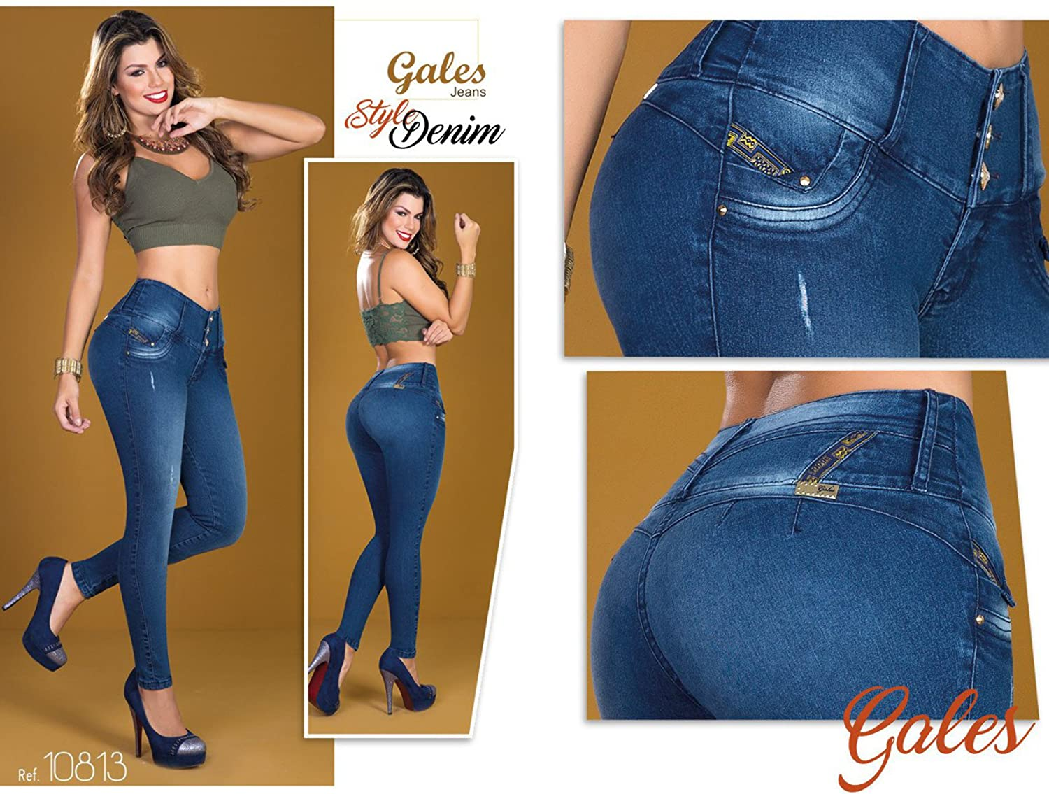 bluee Denim 100% Authentic Colombian Push Up 10813 Jean by Gales