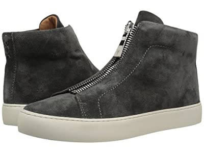 Frye Lena Zip High (Charcoal Soft Oiled Suede) Women