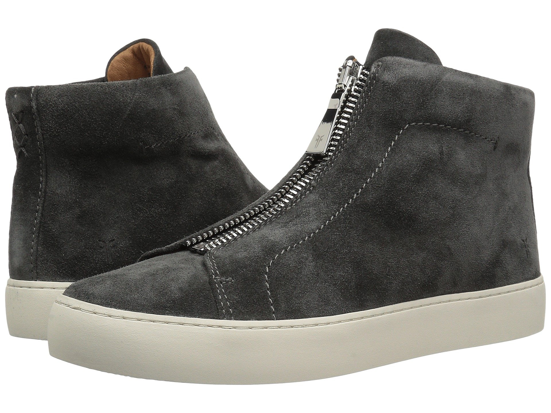 Suede Zip Oiled Frye Soft Lena High Charcoal Yqw4g5O