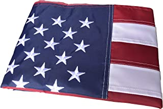 BCBYou 5x8 Feet American Flag Embroidered Stars Sewn Stripes Brass Grommets USA US Flag 210D Oxford Nylon for Indoor Outdoor (5 x 8 Ft)