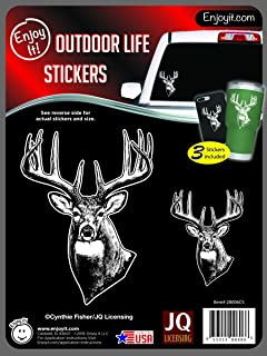 Enjoy It JQL Deer Head Hunting Car Stickers by Cynthie Fisher, 3 pieces