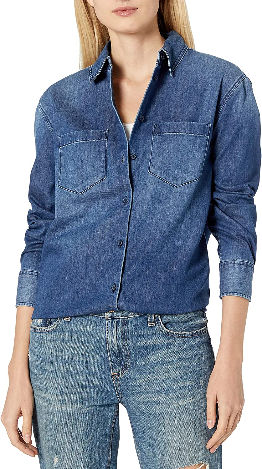 AG Adriano Goldschmied Women's Hartley Clean Shirt with Pockets