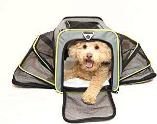 PETS GO2 Premium Pet Carrier for Dogs & Cats - Airline Approved - Expandable Walls for More Room, Top and Side Exits, Ultimate Comfort with Sherpa Padding, Washable, Durable Construction