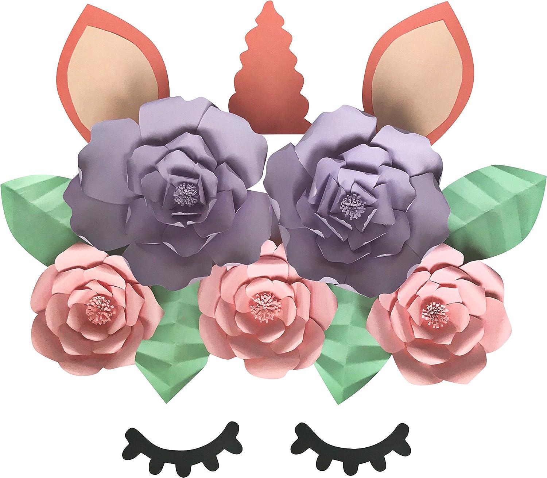 Unicorn Themed Paper Flowers Unicorn Birthday Party Decor