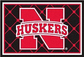 FANMATS NCAA University of Nebraska Cornhuskers Nylon Face 5X8 Plush Rug