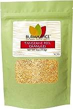 Tangerine Peel Granules : Dried Citrus tangerina : Loose leaf herbal tea sachets (4oz.)