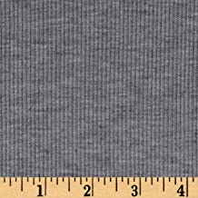 Lavitex 2X1 Rib Knit Heather Gray Fabric By The Yard