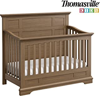 Thomasville Kids Bridgeway 4-in-1 Convertible Crib (Vintage Driftwood) – Converts to Toddler Bed, Daybed or Full-Size Bed, 3-Position Adjustable Mattress Support Base