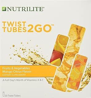Nutrilite Fruits & Vegetables 2go Twist Tubes 20 Tubes