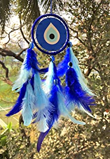 Rooh dream catcher ~ Evil Eye Canvas Car Hanging ~ Handmade Hangings for Positivity (Can be used as Home Décor Accents, Wa...