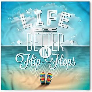 Saying Bandana, Life is Better in Flip Flops, Unisex Head and Neck Tie