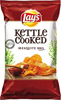Lay's Kettle Cooked Chips, Mesquite BBQ, 32 Ounce (Pack of 4)