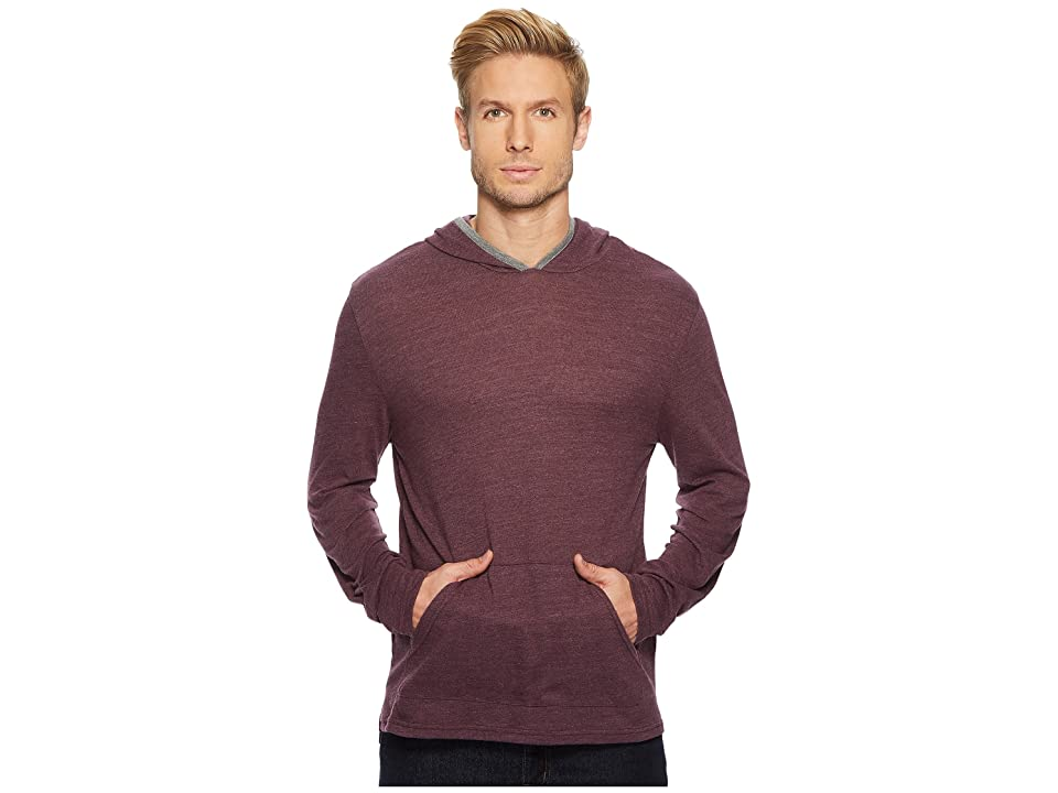 Alternative Marathon Pullover Hoodie (Plum Overdye/Eco Grey) Men