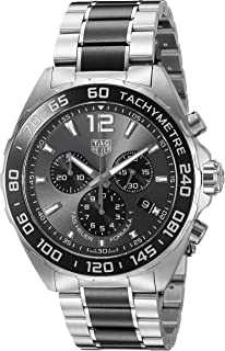 Men's 'Formula 1' Swiss Quartz Stainless Steel Dress Watch, Color:Silver-Toned (Model: CAZ1011.BA0843)