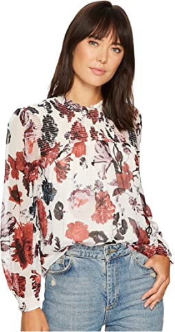 Lucky Brand - Open Floral Print Top