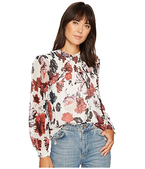 fa3439c064ce30 Lucky Brand Open Floral Print Top at Zappos.com