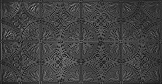 Global Specialty Products 309-06 Traditional Tin Style Panels for Glue-Up Installation, Matte Black