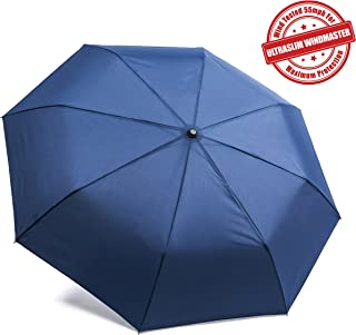 Frostfire Unbreakable Travel Umbrella Wind Tested 55MPH, Beware of Knockoffs, Innovative & Patent Pending, Auto Open Close, Won't Break If Inverted, Durability Tested 5000 Times