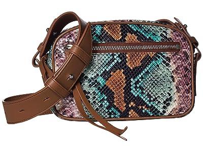 AllSaints Sliver Bumbag Crossbody (Green Multi) Handbags