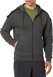 Peak Velocity Men's Medium-weight Fleece Full-Zip Loose-fit Hoodie