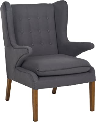 Safavieh Mercer Collection Gomer Mid-Century Steel Gray Arm Chair