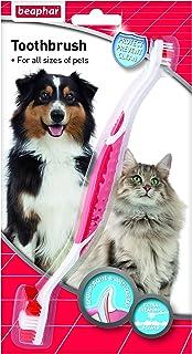 Beaphar Pet Toothbrush for Dogs Oral Dental Hygiene Red & White
