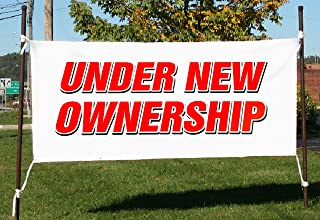 """UGOS Under New Ownership Banner Sign Store Signs Flag (18"""" x 48"""")"""
