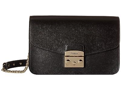 Furla Metropolis Small Shoulder Bag (Onyx 2) Shoulder Handbags