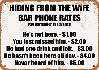 Best hiding from wife bar sign Reviews