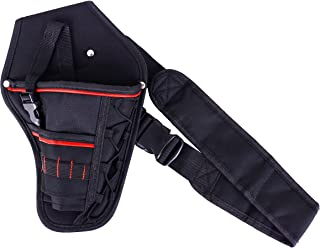 Wolfteeth Impact Drill Holster Driver Drill Holder Portable Wrist Bag Shoulder Bag With Detachable Strap Belt Electric Tool Pouch Bag for Screwdriver Wrench Hammer Most T Handle Drills Black 7415