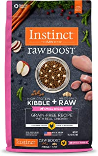 Instinct Raw Boost Small Breed Dry Dog Food, Grain Free High Protein Kibble + Natural Freeze Dried Raw Dog Food