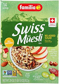 Familia Swiss Muesli Cereal, No Added Sugar, 32-Ounce Boxes (Pack of 6)