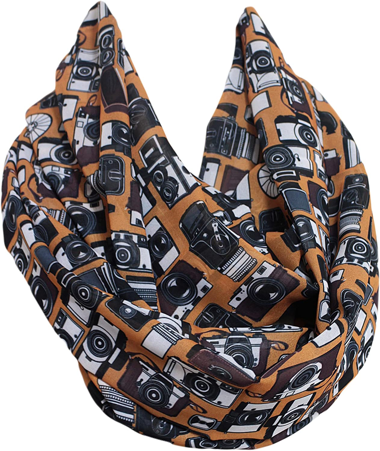 Etwoa's Camera Infinity Scarf Circle Scarf Loop Scarf