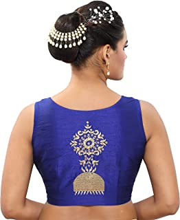 MADHU FASHION Women's Poly Raw Silk Saree With Blouse Piece