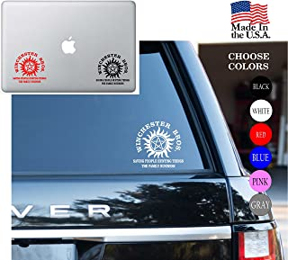 Supernatural Winchester Bros Saving People Hunting Things The Family Series Vinyl Decal Sticker - Car Window, Laptop Skin, Wall, Mac (5.5