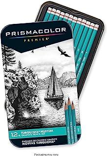 مدادهای رسم نمودار گرافیتی Prismacolor 24192 Premier Turquoise ، آگهی متوسط ، 12 عدد
