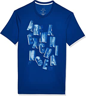 Armani Exchange Short Sleeve Crew Neck All Over Graphic T-shirt