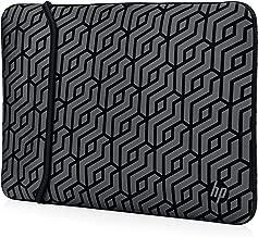 HP 15-inch Laptop Reversible Neoprene Sleeve (Black/Geo Pattern)