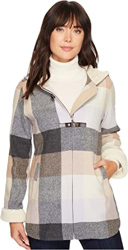Pendleton - Hooded Zip Front Toggle Coat