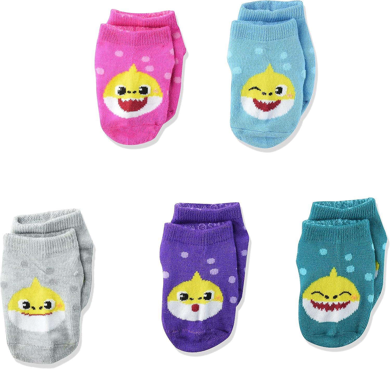 Nickelodeon unisex-baby Baby Shark 5 Pack Shorty Socks