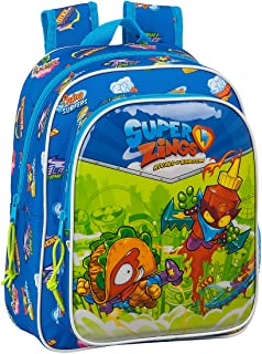 Safta Mochila Escolar Infantil de Superzings Serie 5, 270x100x330mm, Azul