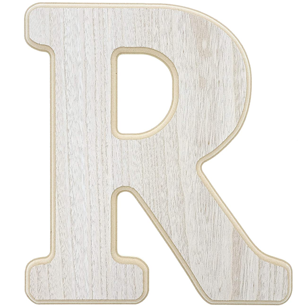 Unfinished Wood Letter R Cutout for DIY Painting, Crafts, and Wall Decor, 10.5 x .5 x 12 Inches