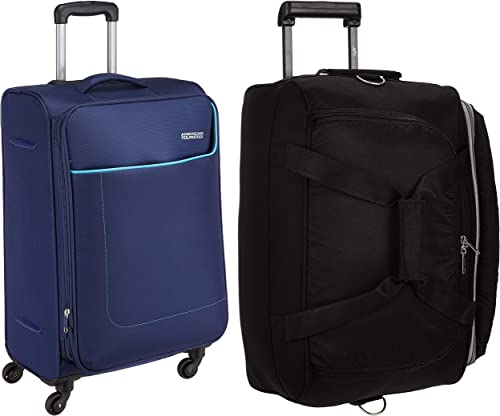 Cardiff Polyester 63 5 Cms Blue Travel Duffle Cardiff Polyester 52 Cms Black Travel Duffle DFTCAR62BLU DFTCAR52BLK