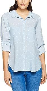 French Connection Women's Origami Bird Core Shirt, Light Blue/Summer W