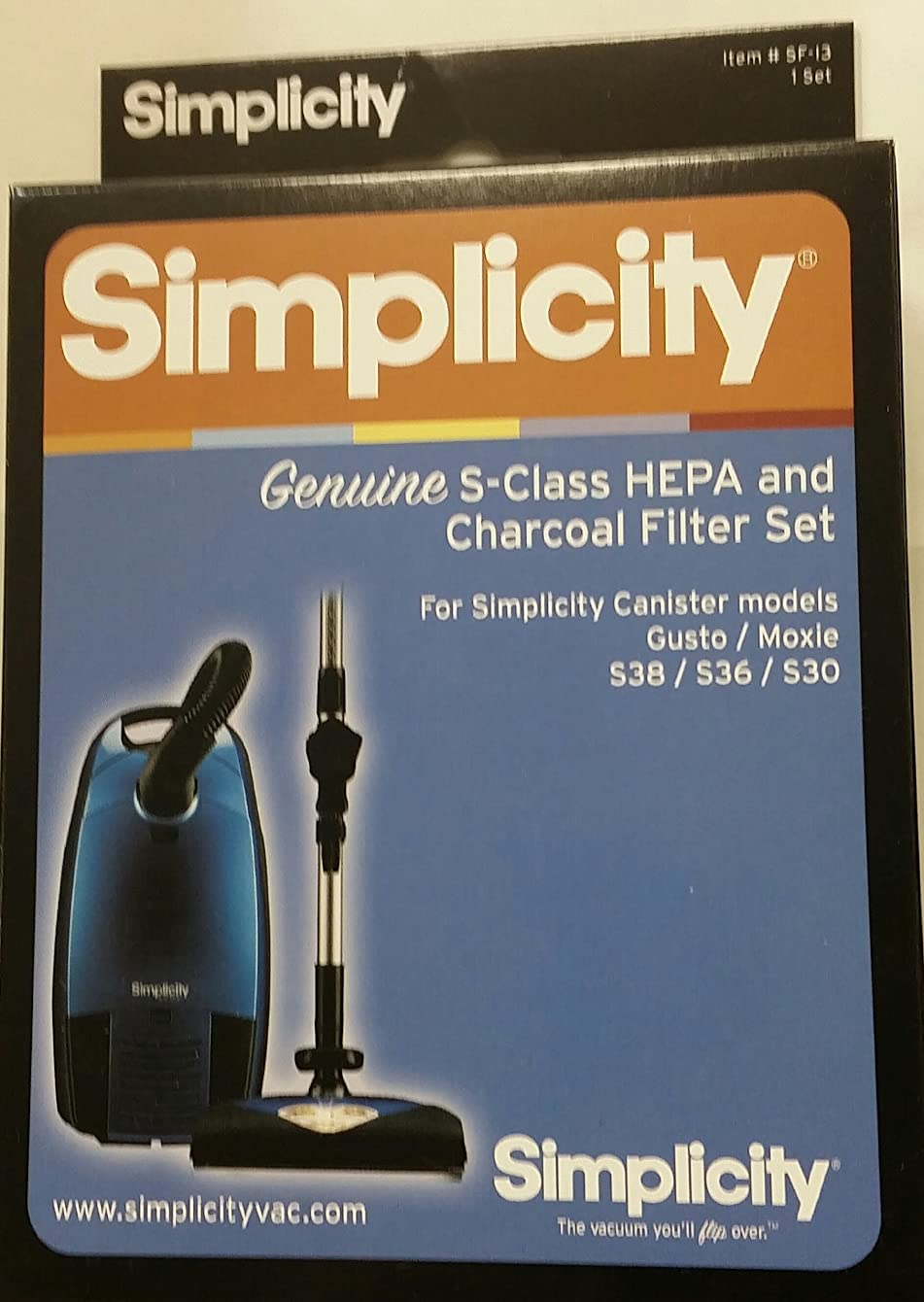 Simplicity #SF-I3 HEPA and Charcoal Filters for Gusto, Moxie, S30, S36 and S38